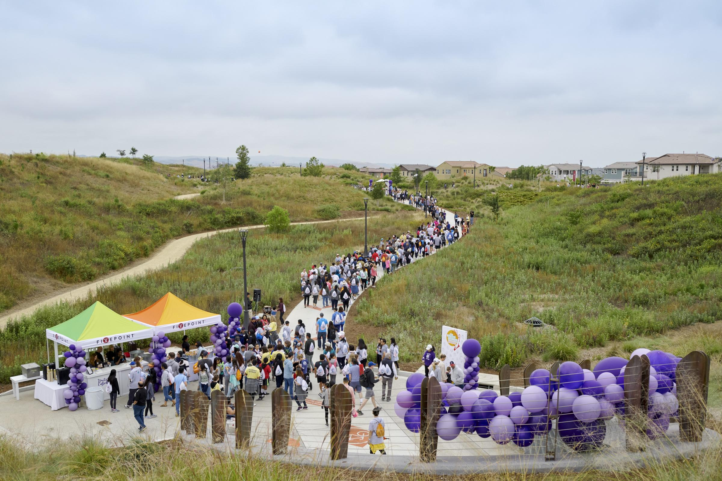 Thousands of Community Members Gather at the Orange County Great Park in Irvine to Celebrate Opening of Great Park Trails Photo - Click Here to See